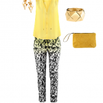 Yellow outfit of H&M