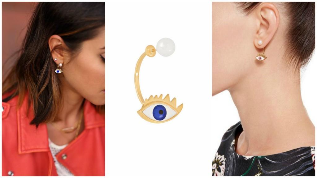 delfina delettrez earring collage